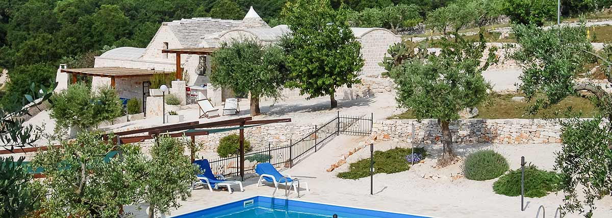 Our trulli and pool